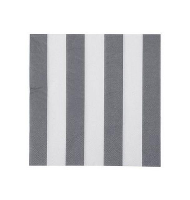 Acheter serviette en papier grises rayures blanches - Papier peint rayures grises et blanches ...
