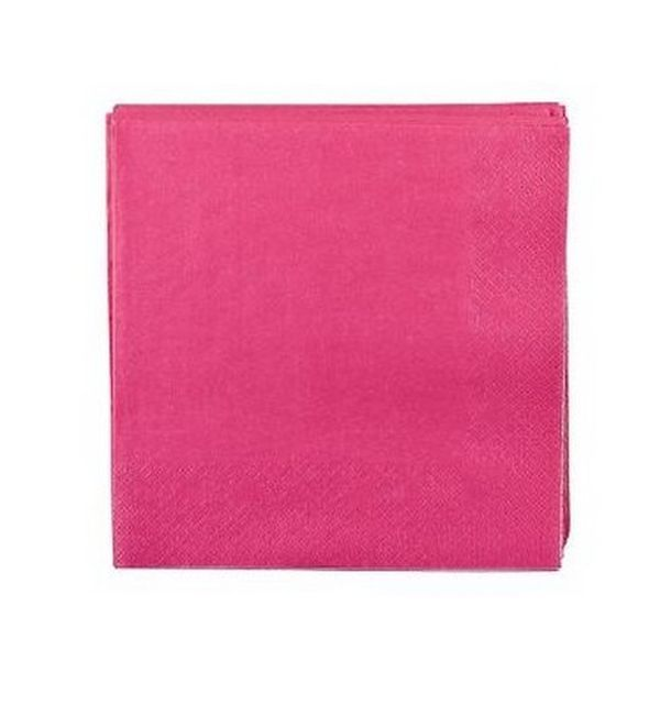 Achat serviette en papier fuschia tables 1001 deco table for Serviette en papier deco