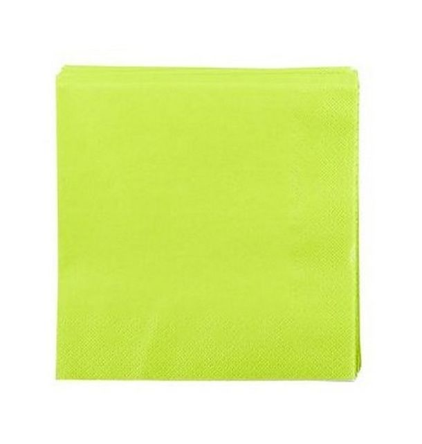 Vente serviette en papier vert anis tables 1001 deco table for Deco serviette de table en papier