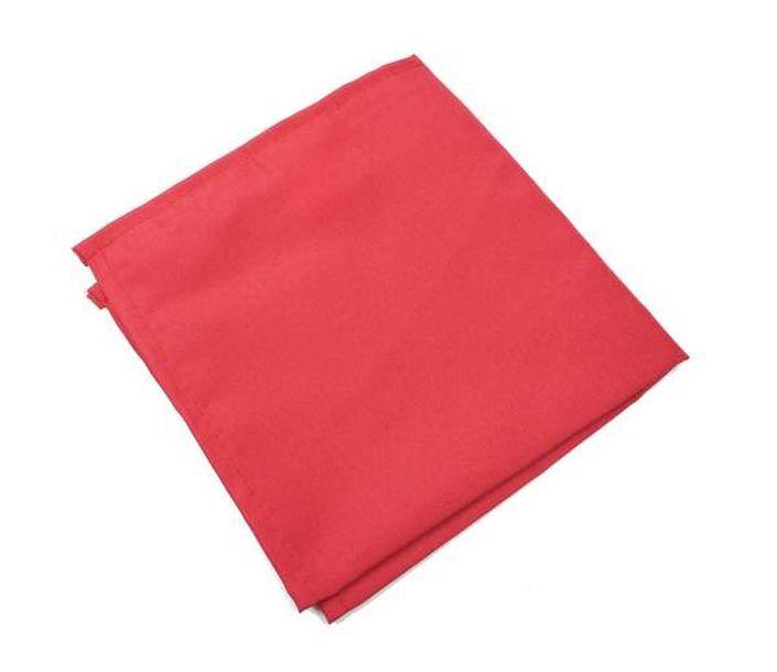 Acheter serviette de table polyester unie rouge nappes - Deco de table serviette ...