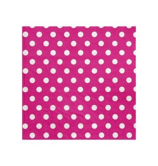 Acheter Serviette En Papier Fuschia Pois En Papier Tables 1001 Deco Table
