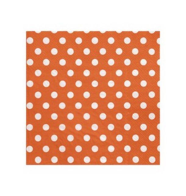 acheter serviette en papier orange pois en papier tables 1001 deco table. Black Bedroom Furniture Sets. Home Design Ideas