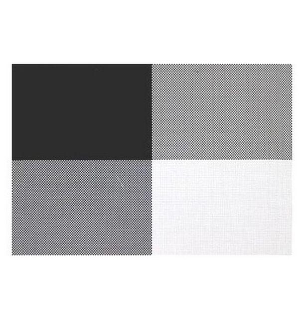 vente set de table pvc rectangle noir blanc nappes. Black Bedroom Furniture Sets. Home Design Ideas