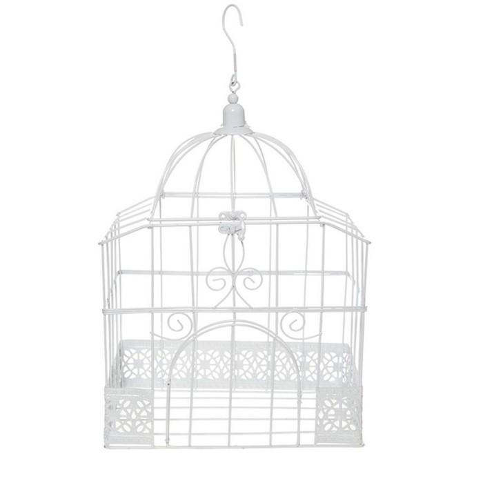 urne tirelire mariage cage rectangulaire blanche - Urne Tirelire Mariage