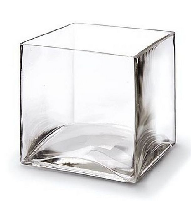 achat vase en verre cubique transparent vaisselle 1001 deco table. Black Bedroom Furniture Sets. Home Design Ideas