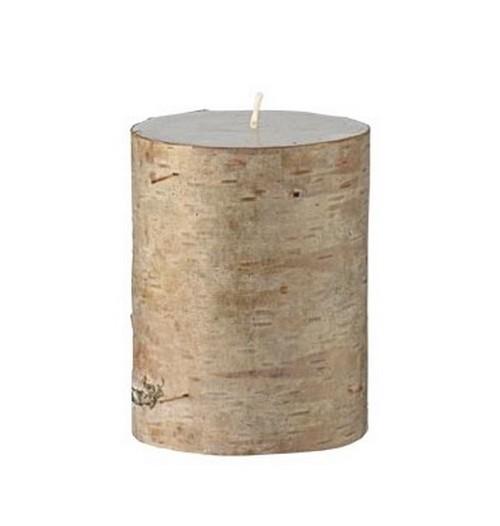 achat bougie cylindrique bouleau tables 1001 deco table. Black Bedroom Furniture Sets. Home Design Ideas
