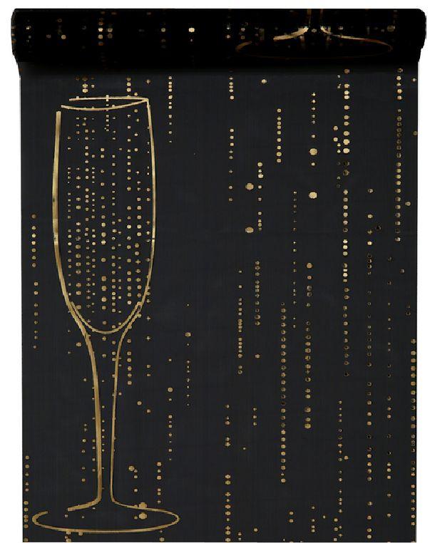Achat chemin de table champagne noir nappes serviettes - Chemin de table lumineux ...