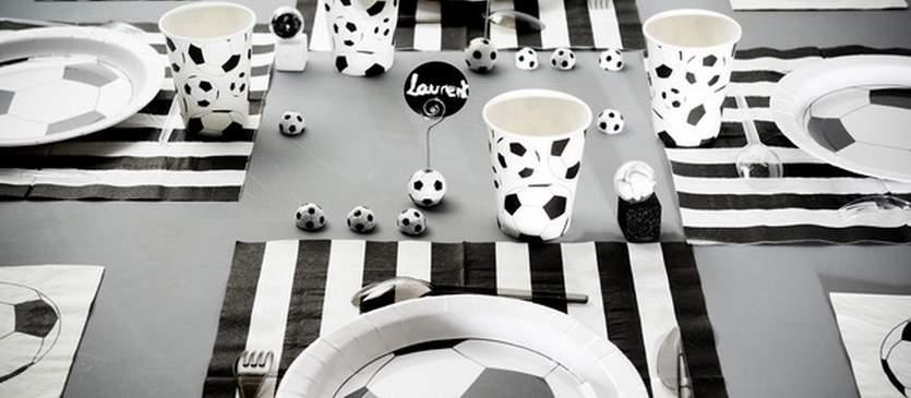 Décoratioon de table pour vos soirées foot