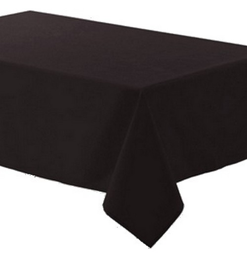 achat nappe polyester noire nappes serviettes chemins de table 1001 deco table. Black Bedroom Furniture Sets. Home Design Ideas