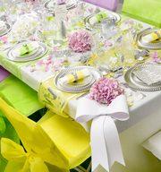 D coration table salle anniversaire mariage - Set de table multicolore ...
