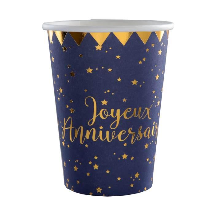 Achat Gobelets En Carton Joyeux Anniversaire 1001 Deco Table