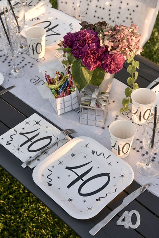 deco table anniversaire 40 ans. Black Bedroom Furniture Sets. Home Design Ideas