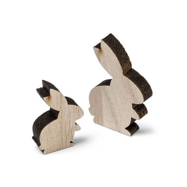 12 petits lapins en bois 2 8cm et 4cm. Black Bedroom Furniture Sets. Home Design Ideas