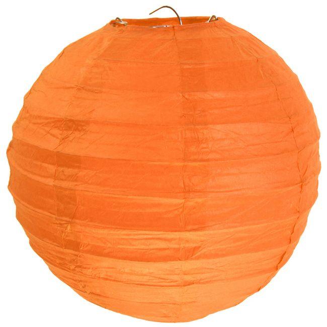 lampion lanterne boule chinoise en papier orange d 30 cm. Black Bedroom Furniture Sets. Home Design Ideas