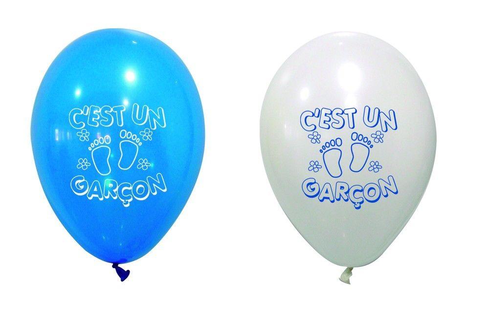 Blanc Ballon Bleu X8 Garçon Bapteme Et DEHIYW29