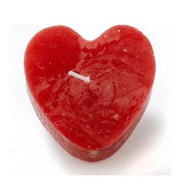 Bougie chauffe plat coeur rouge boite de 4 1001 d co table - Decoration coeur rouge ...