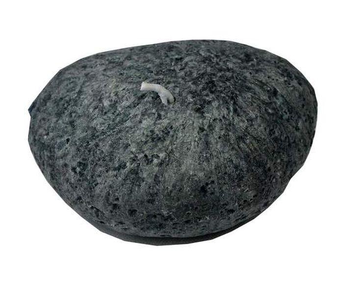 Bougie galet gris/grisfoncé GM