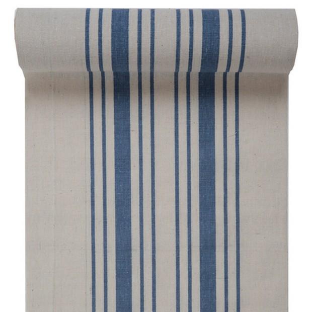 Chemin de table torchon bleu rouleau de 3 m tres 1001 d co table - Chemin de table en rouleau ...