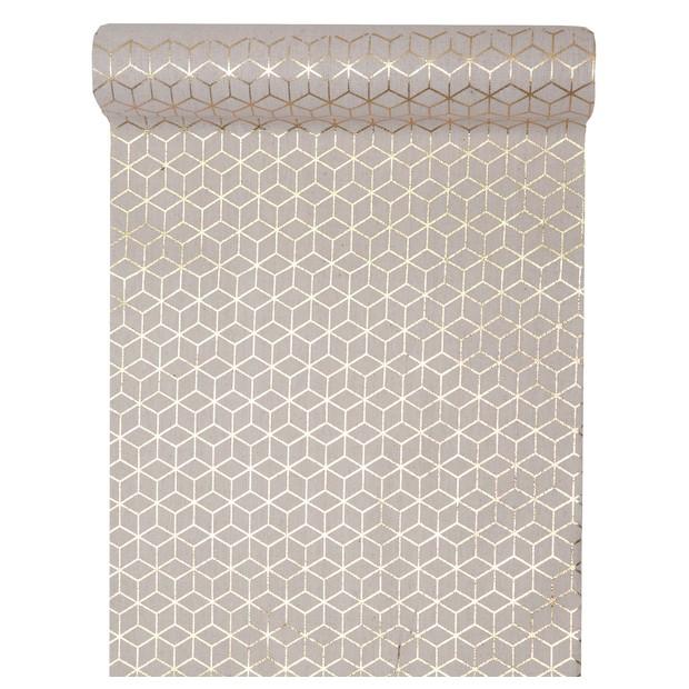 chemin de table carreaux ciment 3d or 3 m tres 1001. Black Bedroom Furniture Sets. Home Design Ideas