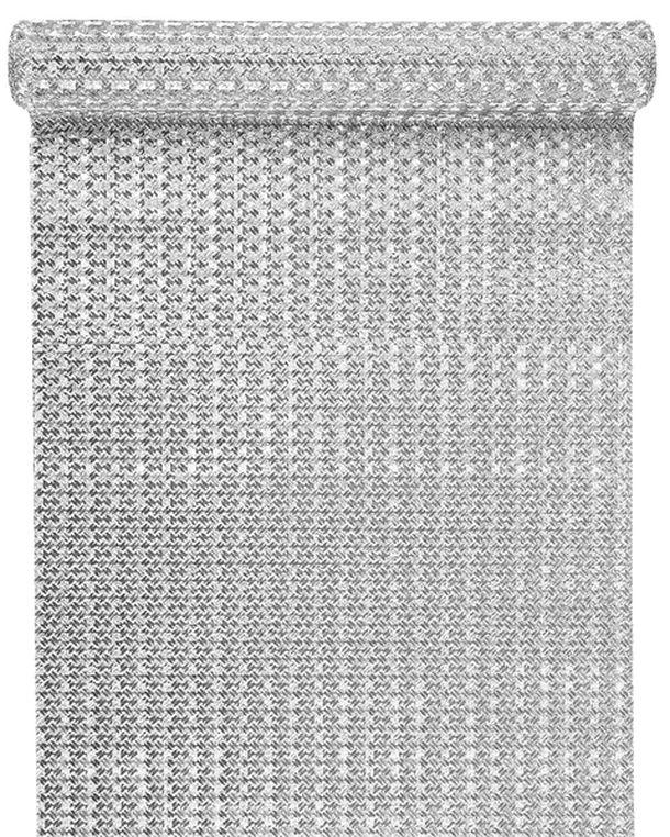 Achat chemin de table m tallis argent nappes serviettes for Chemin de table argent