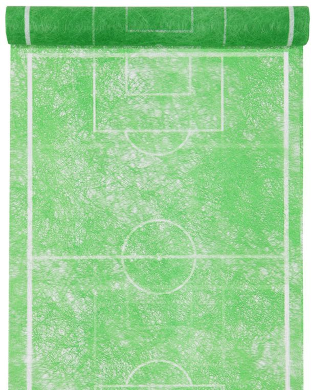 Chemin de table terrain de foot vert 1001 d co table - Chemin de table vert d eau ...