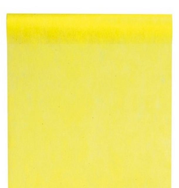 chemin de table intiss jaune x 10 m tres 1001 d co table. Black Bedroom Furniture Sets. Home Design Ideas