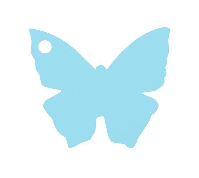 etiquette carton forme papillon bleu ciel. Black Bedroom Furniture Sets. Home Design Ideas