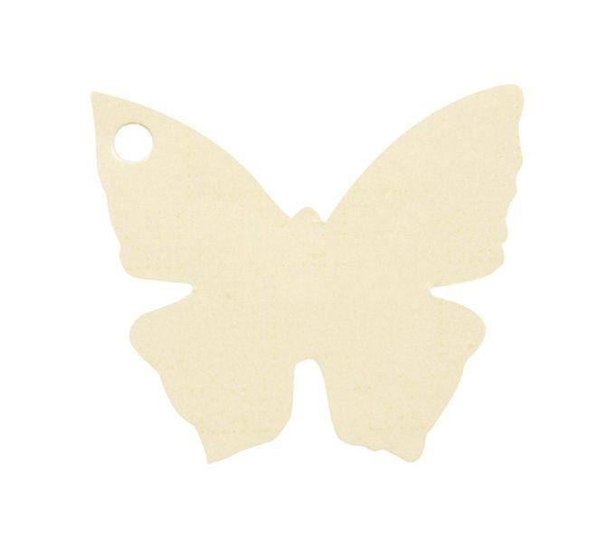etiquette carton forme papillon ivoire. Black Bedroom Furniture Sets. Home Design Ideas
