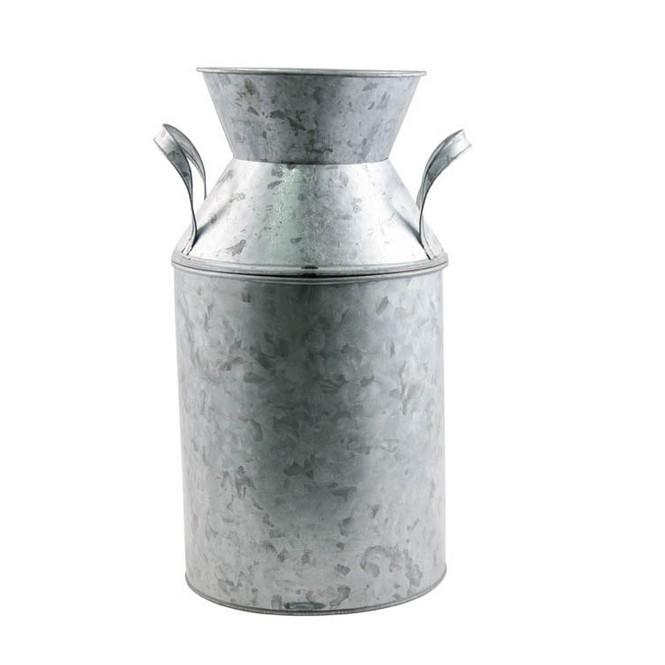 grand pot lait en zinc avec poign es ht 33 cm 1001 d co table. Black Bedroom Furniture Sets. Home Design Ideas