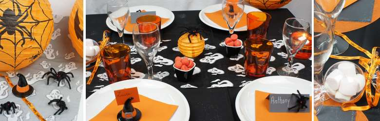 Decoration de table de fêtes pour halloween | 1001 deco table