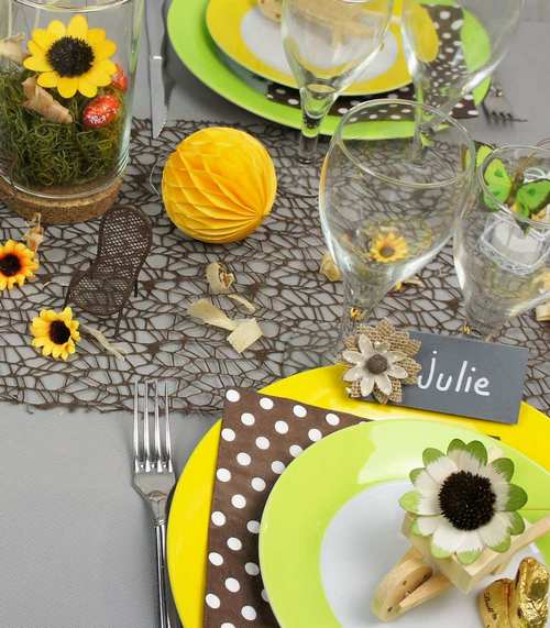 idee de deco de table theme champetre | 1001 deco table