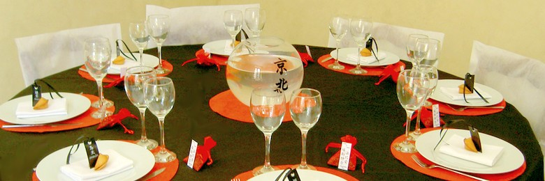 decoration de table theme chinois