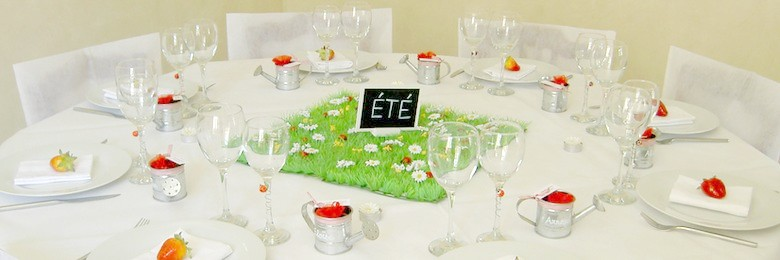 deco de table de fetes rouge et blanc  | 1001 deco table