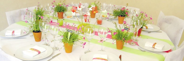 idee de decoration de table theme nature
