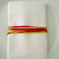 serviette de table polyester unie blanc