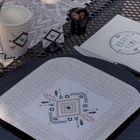 Décoration de table ethnique et chic.