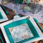 Déco table de fêtes ambiance nature