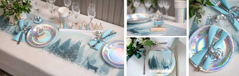 Articles de décoration de table de fin d 'année