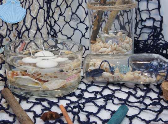 idées de decoration de table theme mer et plage.