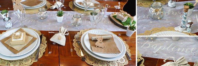 Idee De Decoration De Table Bapteme Fille Ou Garcon