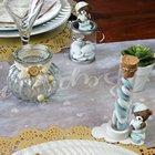 Le naturel en décoration de table baptême fille ou garçon avec du kraft et de la dentelle