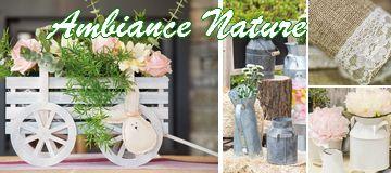 Articles de décoration de tables thème nature.