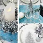 Ambiance polaire avec cette table de fêtes de fin d'année.