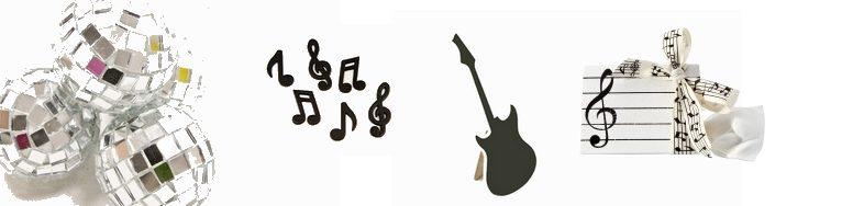 Découvrez cette sélection d'articles pour céer une déco de table thème musique.