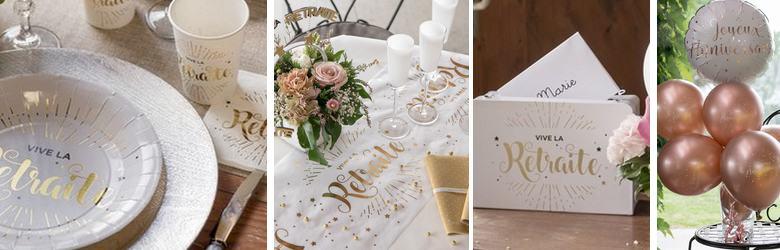 Belle décoration de table pour fêter un départ à la retraite.