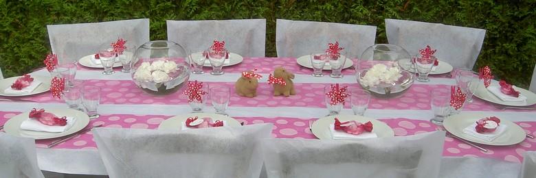 Decoration De Table Pour Bapteme Fille