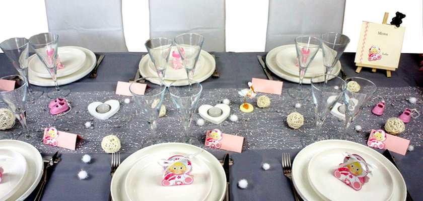 idees de deco de table bapteme petite fille | 1001 deco table
