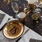 Déco de table anniversaire noir et or