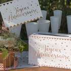 Ambiance anniversaire rose gold | 1001 deco table