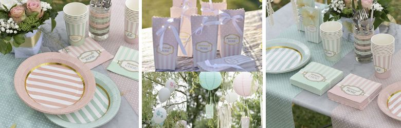 Deco de table baby shower garçon et fille
